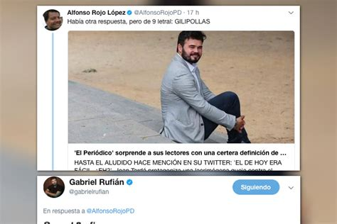 Twitter: La demoledora respuesta de Gabriel Rufián a ...