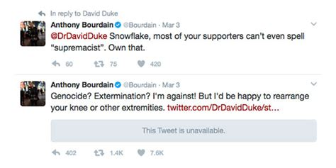 Twitter war with Anthony Bourdain ends poorly for David ...