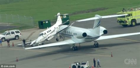 Two corporate jets collide on the ground during Nashville ...