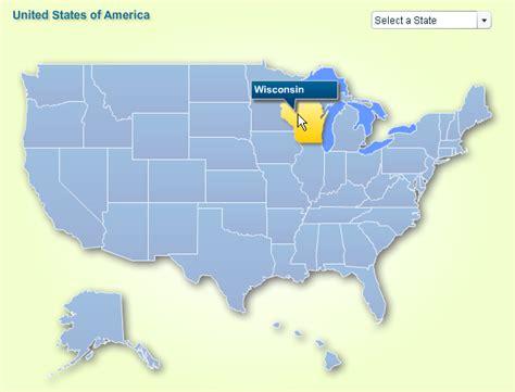 U S State Map