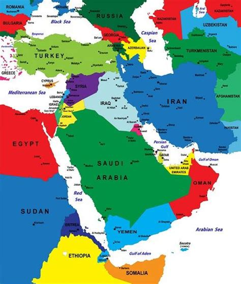 Uae Iran Map