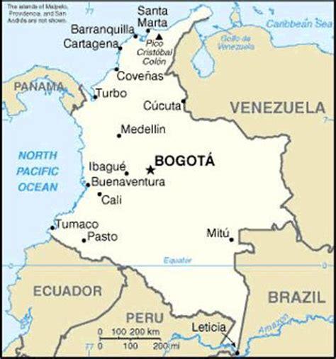Ubicacion geográfica de Colombia - Dónde queda la ciudad?