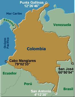 Ubicación geográfica de Colombia: extensión, ubicación y ...