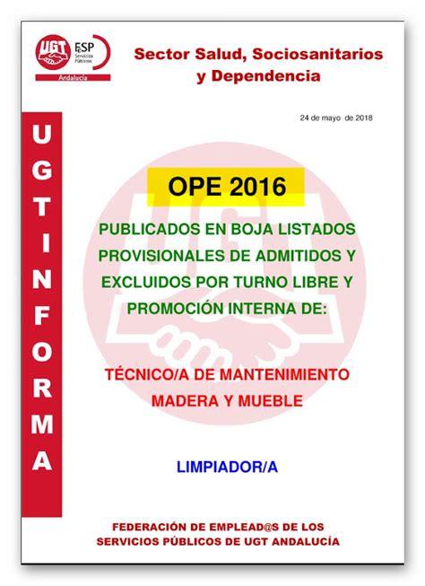 UGT Distrito Sanitario Málaga Guadalhorce: OPE 2016 ...