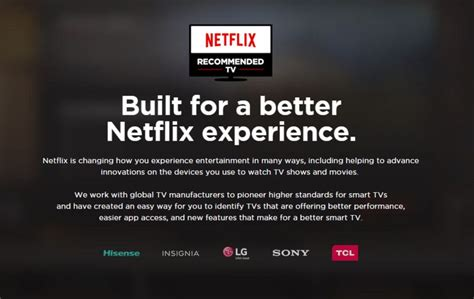 Ultimate Smart Televisions : Netflix Recommended TV