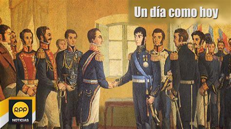 Un día como hoy 26/07│Entrevista de San Martín y Simón ...