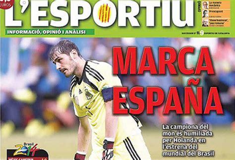 Un diario catalán se ríe de la selección española…y de ...