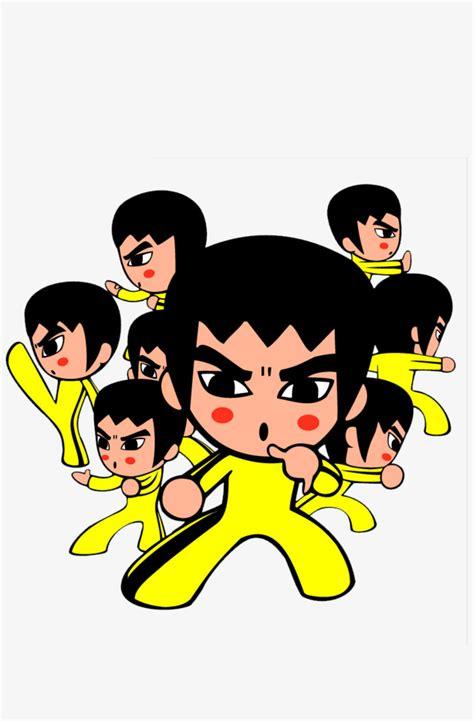 Un Grupo De Personajes De Dibujos Animados De Bruce Lee ...