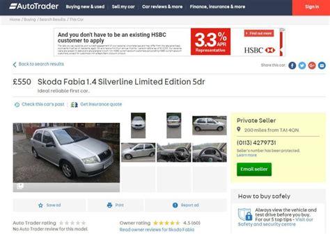 Un hombre pone su Skoda a la venta en una página de ...