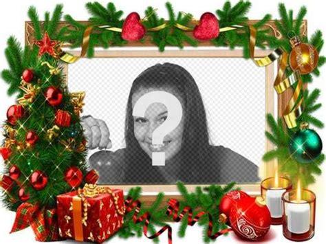 Un marco para fotos con adornos navideños   Fotoefectos