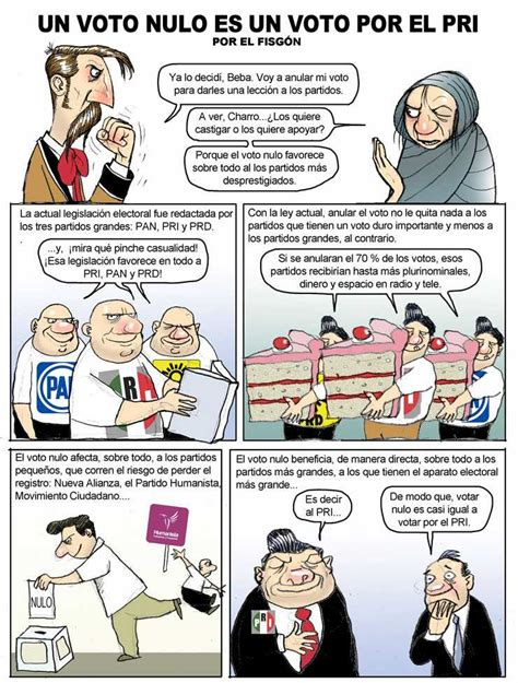 Un voto nulo es un voto por el PRI: El Fisgón (cartón ...