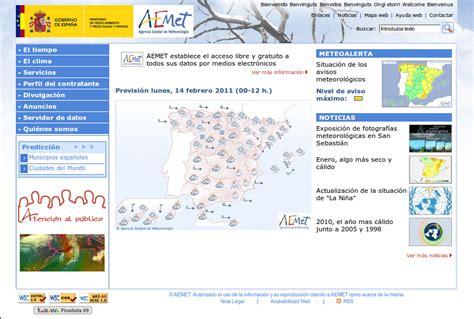 Un web de tiempo con solera, AEMET ~ Buscando por Internet