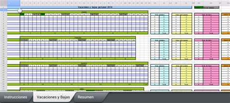 una ovejita más: Excel para controlar las vacaciones y ...