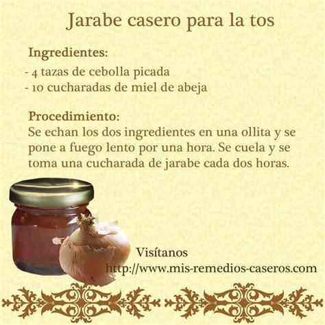 Una receta facil para hacer un jarabe casero para la tos ...