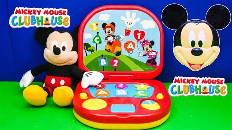 Unboxing the Mickey Mouse Learning Laptop Toy   YouTube