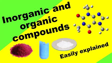 Understand Organic and Inorganic compounds - YouTube