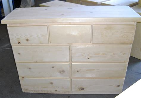 Unfinished Pine Furniture - Backwoods Rustic Home Furnishings