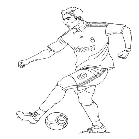 Único Dibujos De Jugadores De Futbol Para Colorear E Imprimir