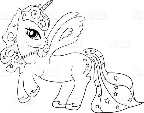 Unicorn Coloring Page For Kids Stock Vector Art & More ...