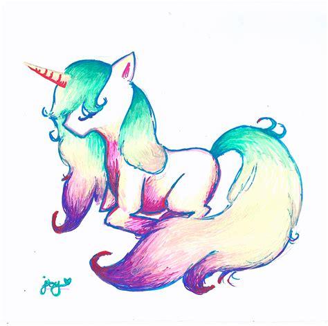 Unicorn Drawing by Yunixis on DeviantArt