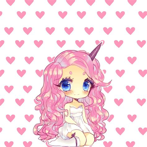 Unicorn girl ???????? freetoedit kawaii unicorn unicorngirl...