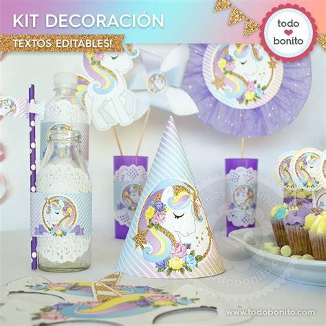 Unicornio: decoración de fiesta - Todo Bonito