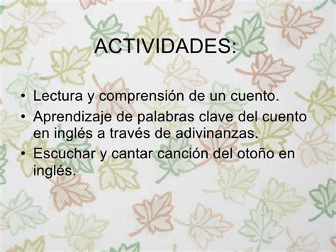 Unidad didáctica el otoño en inglés