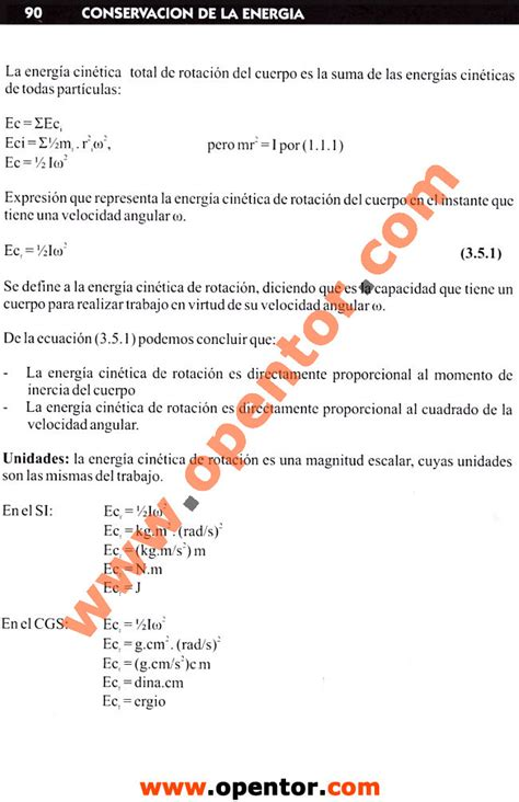 Unidades de la energía cinética de rotación - Física 2 ...