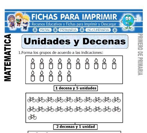 Unidades y Decenas para Primero de Primaria   Fichas para ...