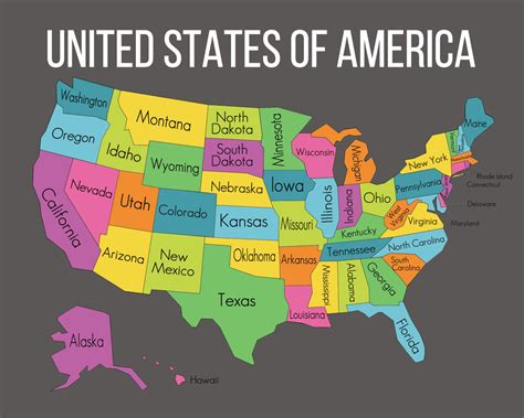 Unied states map and travel information | Download free ...