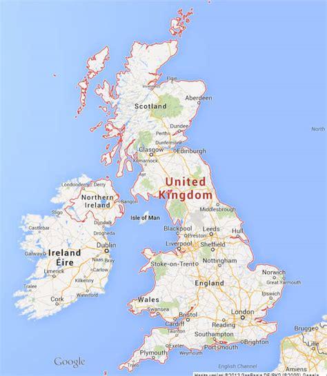 United Kingdom Google Map
