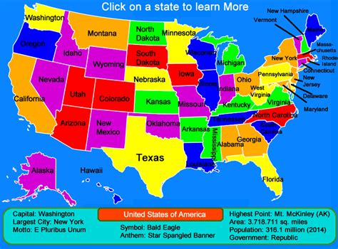 United States Map – Click and Learn