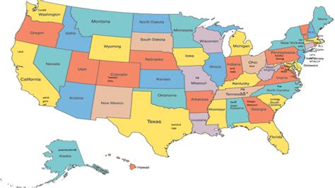 United States Map With Capitals And State Names - ClipArt Best