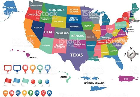United States Of America Map Stock Vector Art & More ...