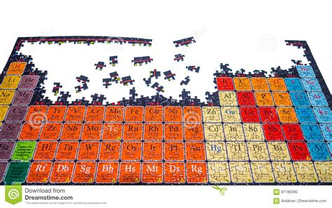 Unsolved Puzzle Of The Chemical Periodic Table Stock ...