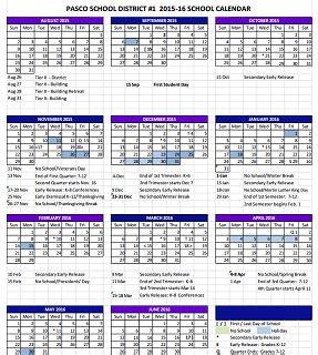 Updated Pasco School Calendar 2015 16   ABC FOX Montana ...