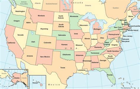 US 50 States Capitals Map Quiz & Names List   Calendar ...