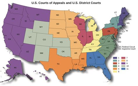 Us Court Of Appeals Map | Travel Maps and Major Tourist ...