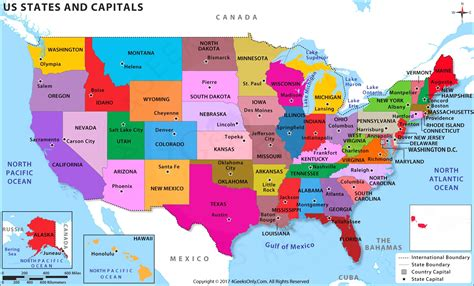 Us Map Of States And Capitals | Cdoovision.com