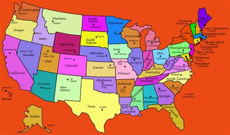 Us Map States And Capitals | Free World Map