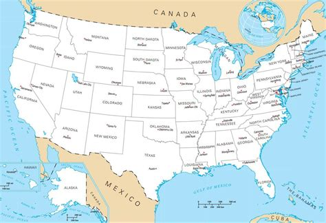 Us Map With Capitals Pictures to Pin on Pinterest - PinsDaddy