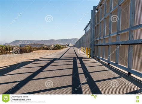 US-Mexico Border Wall Between San Diego And Tijuana Stock ...