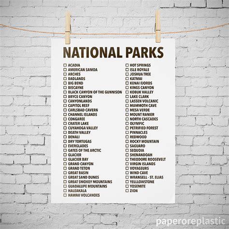 Us National Parks List Printable - Bing images