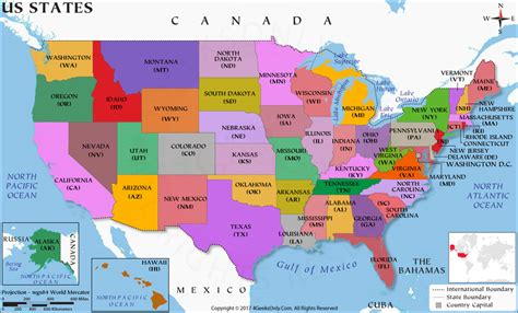 US State Map, 50 States Map, US Map with State Names, USA ...