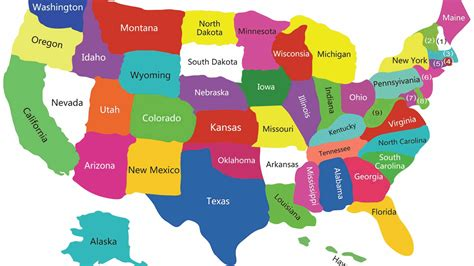 USA Satates Map,Map Of USA With Satates, USA Polical Map ...