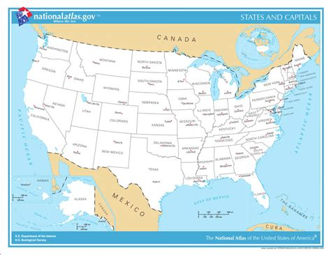 USA State Maps, Interactive State Maps of USA : State Maps ...
