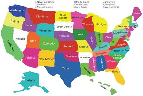 USA States Map, US States Map, America States Map, States ...