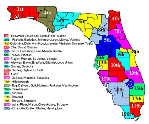 Useful Maps Explaining Florida's Judicial System