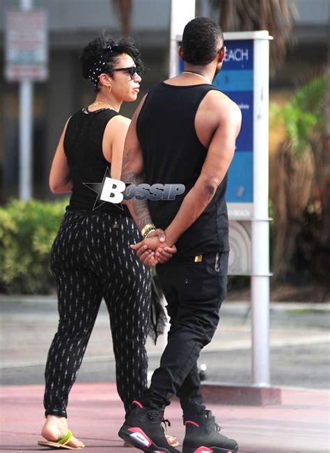 Usher And Girlfriend Grace Miguel Go Walking In Miami | Bossip