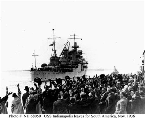 USN Ships--USS INDIANAPOLIS (CA-35), 1936 Presidential ...